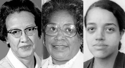 Katherine Johnson, Mary Jackson e Dorothy Vaughan.