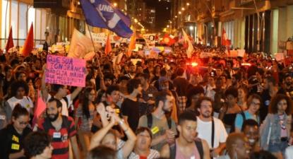 Protesto em Niterói