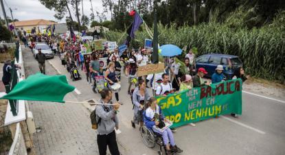 Manifestação contra a exploração de gás na Bajouca - Foto Mídia Ninja