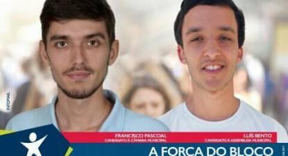 Francisco Pascoal, Candidato à Câmara de Rio Maior e Luís Bento candidato à Assembleia Muncipal. Foto do Facebook Bloco Rio Maior.