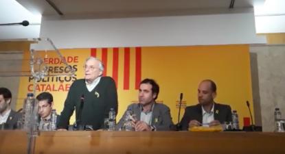 Os participantes defenderam o direito à autodeterminação do povo catalão.