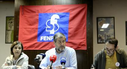 Conferência de imprensa da Fenprof sobre sobrecarga de trabalho dos docentes. Outubro de 2019.