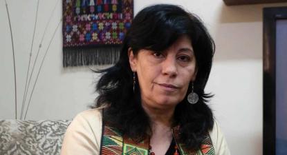 Khalida Jarrar, prisioneira política na prisão de Damon desde outubro de 2019.