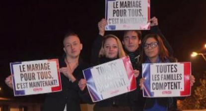 """""""O casamento para todos é agora"""": manifestação em França"""