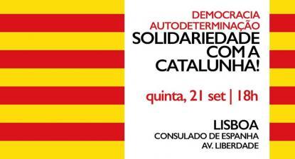 Concentração em solidariedade com a Catalunha