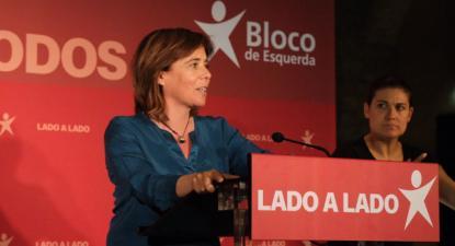 Catarina Martins na noite eleitoral - Foto de Paula Nunes