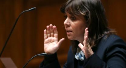 Catarina Martins no debate quinzenal com o Primeiro-Ministro, 17 de janeiro de 2017 – Foto de Manuel de Almeida/Lusa