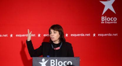 """""""Municipalização não é sinónimo nem de descentralização nem de democracia"""", afirmou Catarina Martins no encerramento do fórum sobre Educação – foto de Nuno Fox/Lusa"""