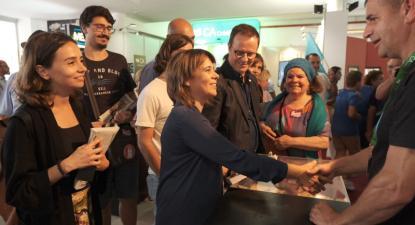 Catarina Martins visitou a Agrival em Penafiel - foto de Paula Nunes
