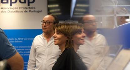 Catarina Martins e José Manuel Boavida, presidente da APDP - Foto de Paula Nunes