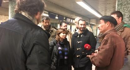 Catarina Martins e Ricardo Robles em visita ao metro de Lisboa, foto de Paulete Matos