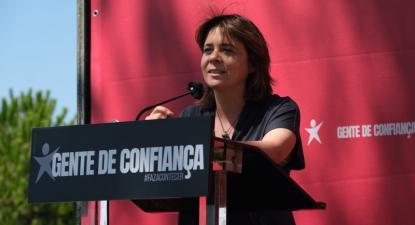 """""""O trabalho é a nossa grande luta"""", afirmou Catarina Martins na Lagoa Óbidos - Foto de Paula Nunes"""