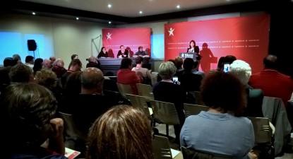 Catarina Martins intervindo no encerramento do Encontro distrital do Porto de ativistas laborais do Bloco