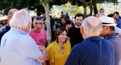 Catarina Martins esteve em Arcozelo, Penafiel, no piquenique dos trabalhadores das pedreiras - Foto de Paula Nunes