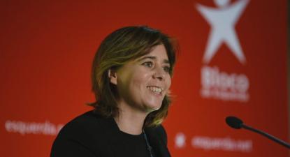 """Catarina Martins alertou que """"quem não tem projeto precisa de inventar lixo para esconder a falta de projeto"""" - Foto de Paula Nunes"""
