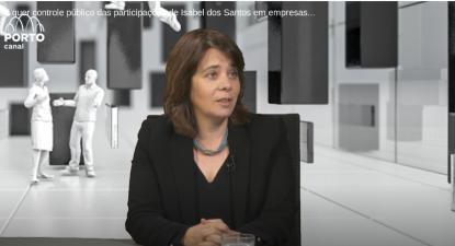 Catarina Martins na entrevista ao Porto Canal