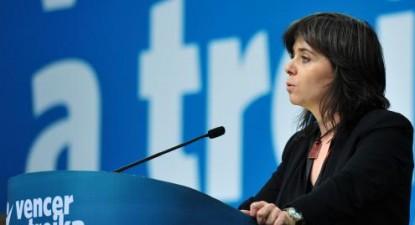 """""""Nós não temos de escolher entre os neoliberais e a direita. Podemos escolher a democracia e os direitos dos trabalhadores"""", afirmou Catarina Martins. Foto de Paulete Matos"""