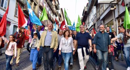 Catarina Martins no Porto neste sábado, foto de esquerda.net