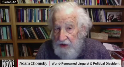 Noam Chomsky em entrevista ao Democracy Now.