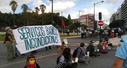Protesto pelo clima bloqueia Marquês de Pomba