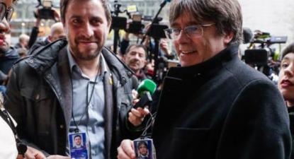 Toni Comin e Carles Puigdemont