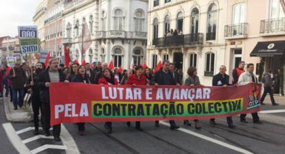 Bloco quer promover a contratação coletiva - Foto da CGTP