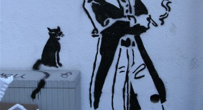 Corto Maltese, grafiti em Lisboa – Foto de Ana Gama/flickr