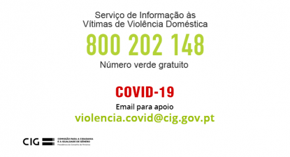 Imagem da linha de apoio às vítimas de violência doméstica.