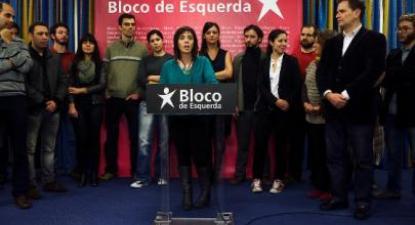 Catarina Martins e a nova Comissão Política. Foto de José Sena Goulão - Lusa