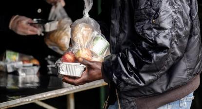 Apoio alimentar. Foto da Câmara Municipal de Lisboa.