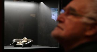 João Cutileiro na exposição pós-pop, organizada pela Fundação Calouste Gulbenkian em 2018.