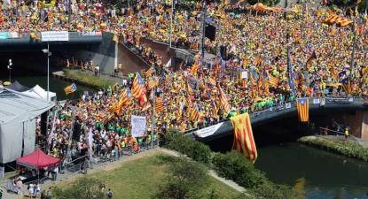 Catalães manifestam-se em Estrasburgo