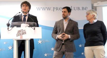 Carles Puigdemont, Toni Comín e Clara Ponsati