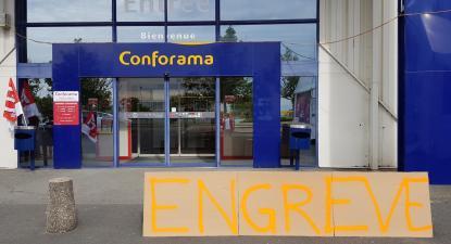 Conforama França em greve. Outubro 2019.