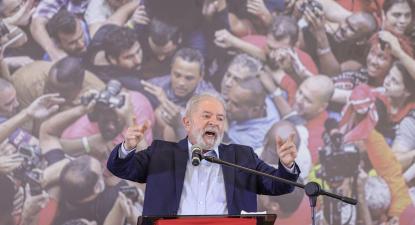 Lula a prestar declarações depois da sua libertação. Foto: Ricardo Stuckert/Fotospublicas.com.
