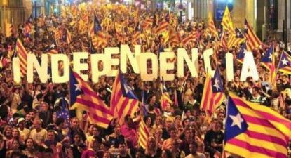 Diada - Dia da Catalunha - 2012, manifestação em Barcelona