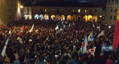 Foto de Twitter oficial do Bloque Nacionalista Galego.
