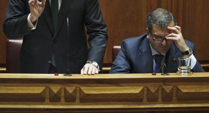 Miguel Relvas, ex ministro-adjunto e dos Assuntos Parlamentares do governo liderado por Pedro Passos Coelho. Foto de Miguel A. Lopes, Lusa.
