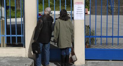 Escola encerrada em Coimbra. Foto de Paulo Novais/Lusa.
