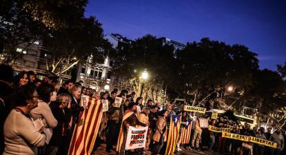 Manifestação contra a condenação dos independentistas catalães. Lisboa, Outubro de 2019.