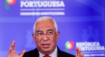 António Costa durante o anuncio das novas medidas restritivas para a época do Natal no contexto de combate à pandemia de covid-19 no país.