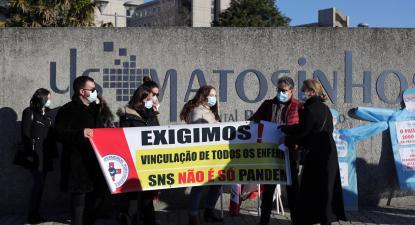 Concentração do SEP esta quarta-feira em Matosinhos.