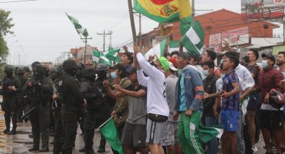 Protestos em Santa Cruz