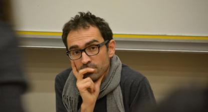 Cédric Durand num debate em 2015.Foto de Attac Essone.