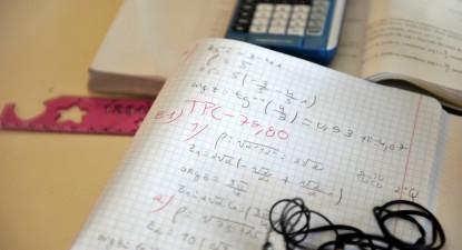 Caderno escolar.