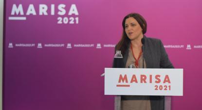 Marisa Matias na sessão de apresentação da sua candidatura em Leiria.