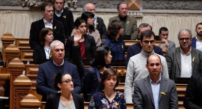 Parlamento chumba voto de solidariedade com presos políticos na Catalunha