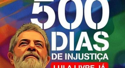 Imagem da campanha Lula Livre Já.