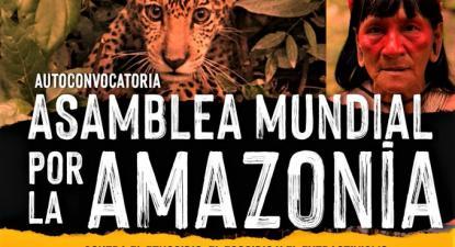 Um dos cartazes de convocatória da Assembleia Mundial pela Amazónia.