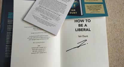 Imagem do livro Como ser um Liberal de Ian Dunt. Foto de TribuneMag.